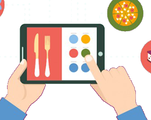 electronic menu for interactive restaurants